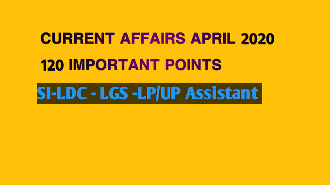 Current Affairs April 2020- 120 Important Points