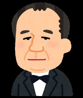 渋沢栄一の似顔絵イラスト