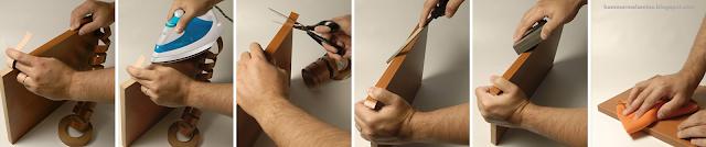 el tapacanto se pega en las superficies a pegar o a través de la aplicación de calor en el caso de Tapacantos autoadhesivos