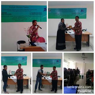 Mengisi kuliah sebagai dosen tamu di Bandung