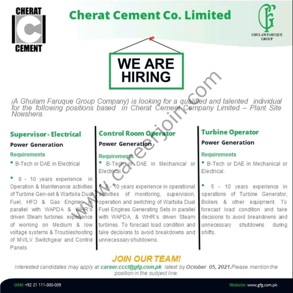 Cherat Cement Company Limited Jobs October 2021