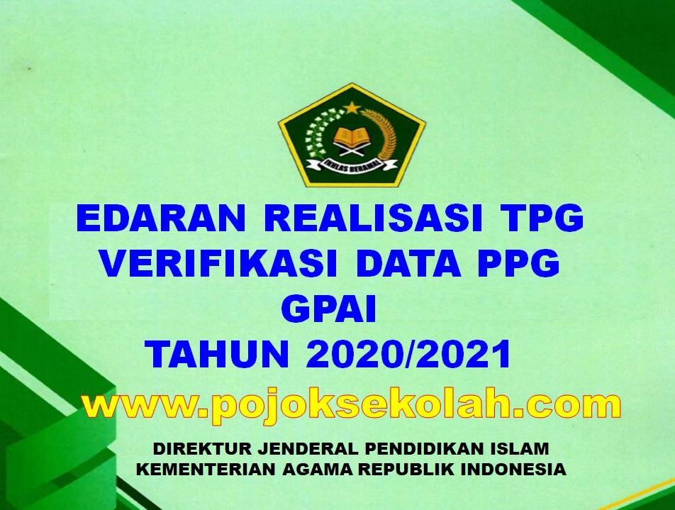 Edaran Realisasi TPG
