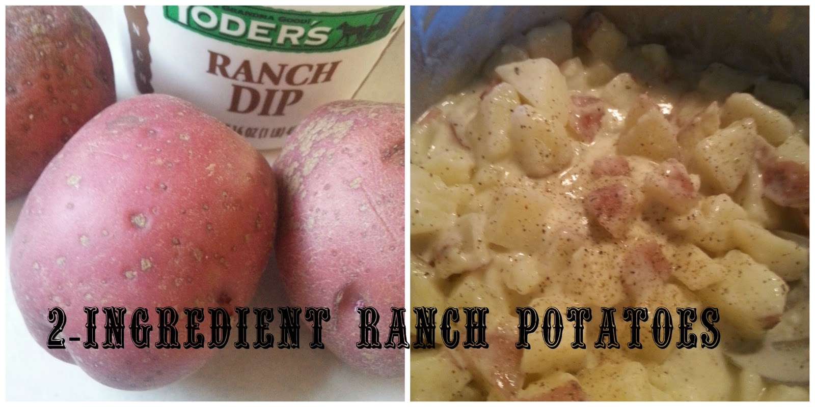 The Better Baker 2 Ingredient Ranch Potatoes