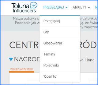 Opcje społecznościowe w Toluna.
