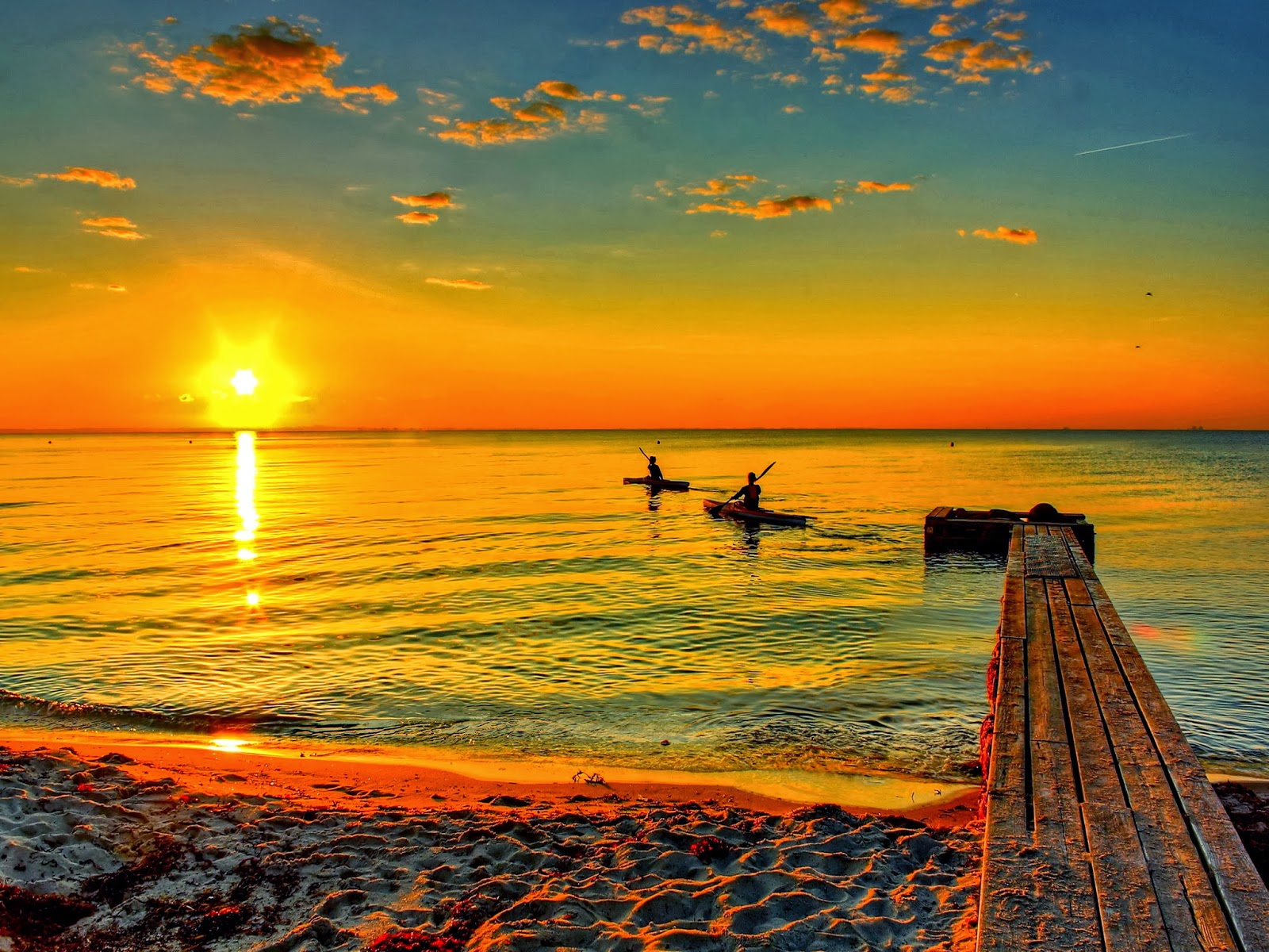 Beach Sunrise HD Wallpapers - Wallpapers Free
