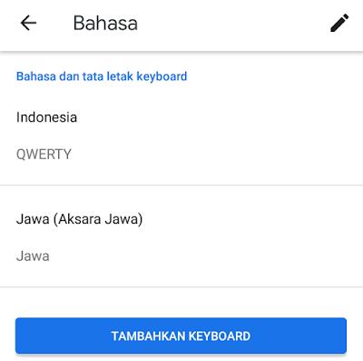 Aksara Jawa berhasil ditambahkan ke Keyboard