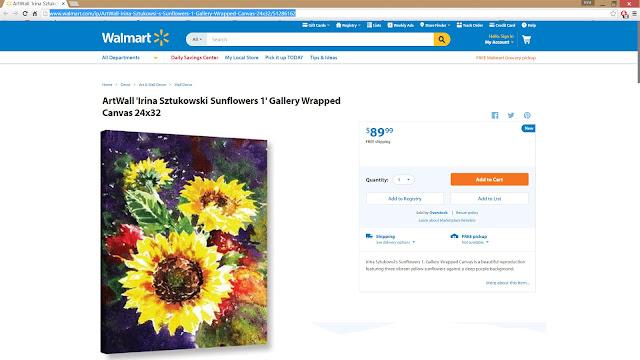 Sztukowsi stretched canvas Sunflowers painting