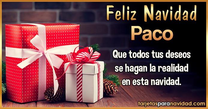Feliz Navidad Paco