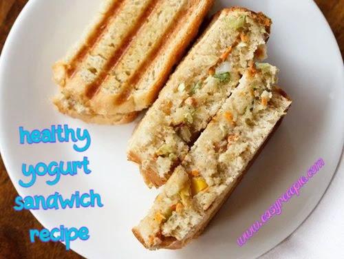 Easy to make healthy yogurt sandwich recipe for breakfast