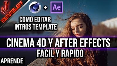 Como EDITAR UNA INTRO TEMPLATE con Cinema 4D y After Effects | Facil y Rapido