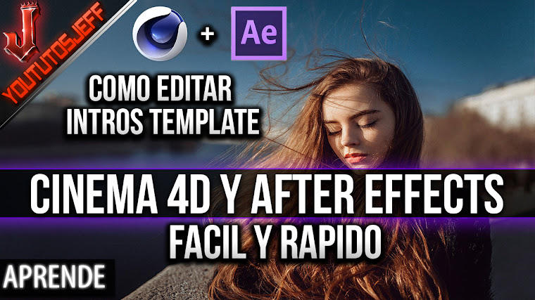 Como EDITAR UNA INTRO TEMPLATE con Cinema 4D y After Effects | Facil y Rapido