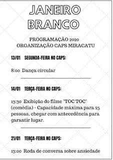 Miracatu realiza campanha Janeiro Branco