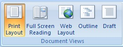 View Tab MS Word 2007