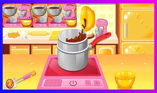 العاب طبخ كيك البندق