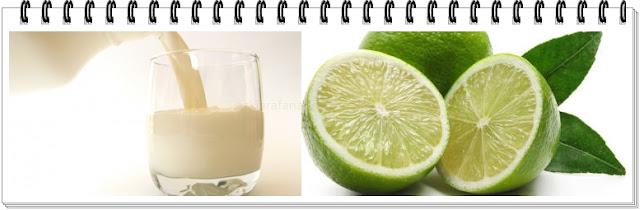 masker susu dan jeruk nipis