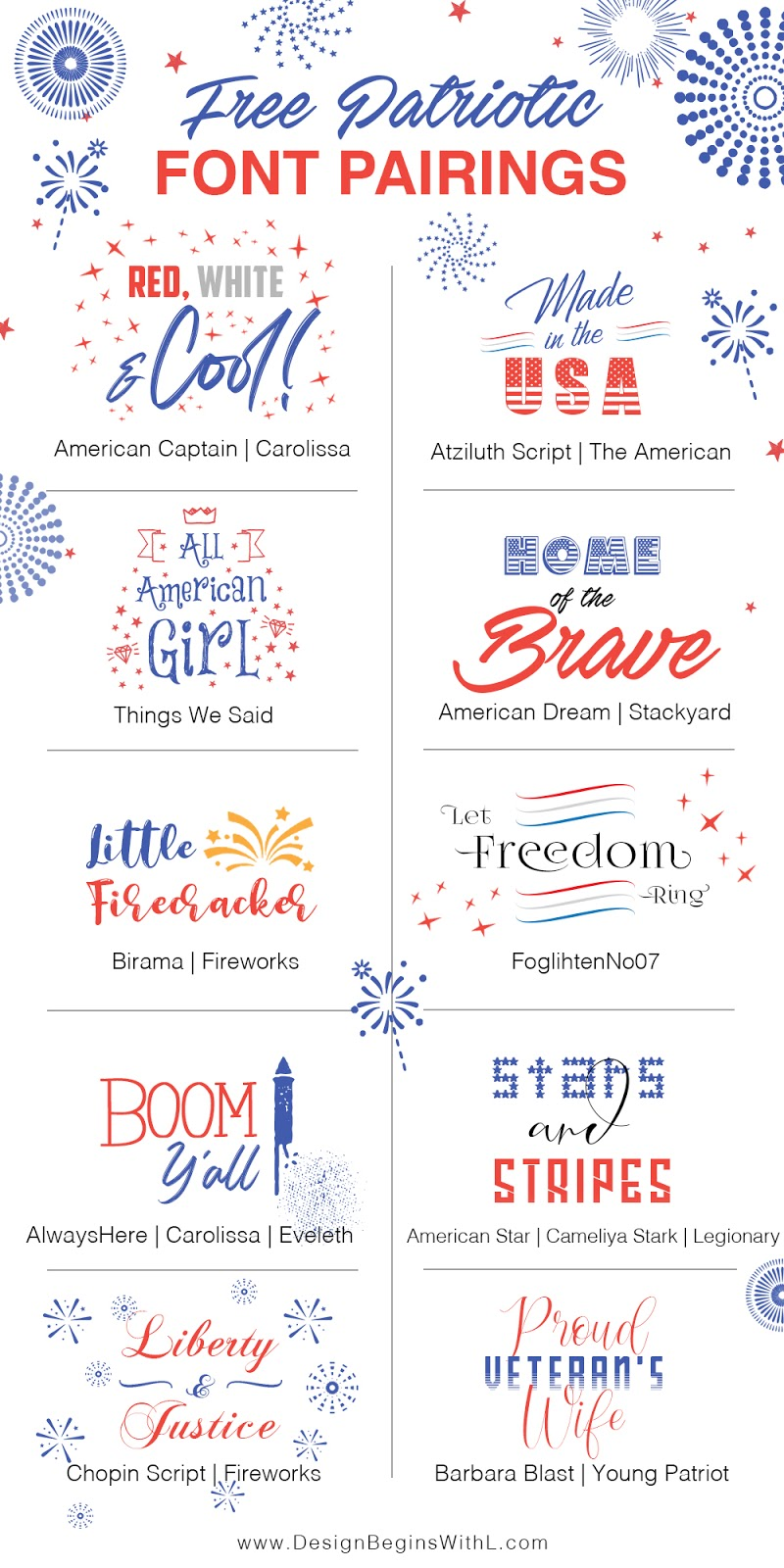 Free Patriotic Font Pairings for the Fourth of July