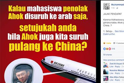 Netizen Ramai-ramai Suruh Ahok Pulang Ke China, Setelah Suruh Mahasiswa Pergi Ke Arab