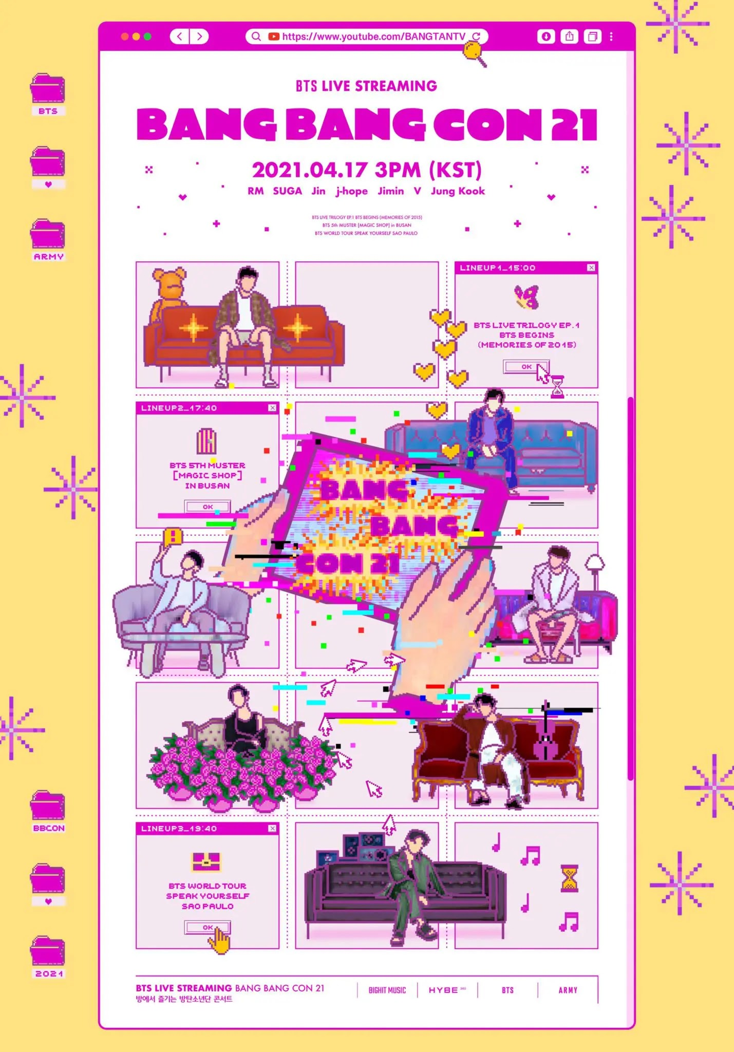 BTS Announces Content List on Concert Broadcast 'BANG BANG CON 2021'