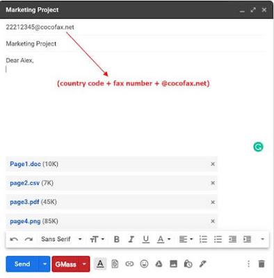 كيفية, ارسال, فاكس, باستخدام, خدمات, جوجل, عبر, الانترنت, بواسطة, CocoFax