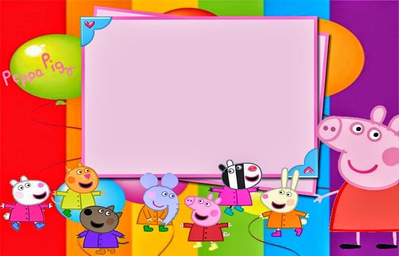 Baby Girl Nursery Wallpaper Borders Peppa Pig Invitaciones O Marcos Para Imprimir Gratis