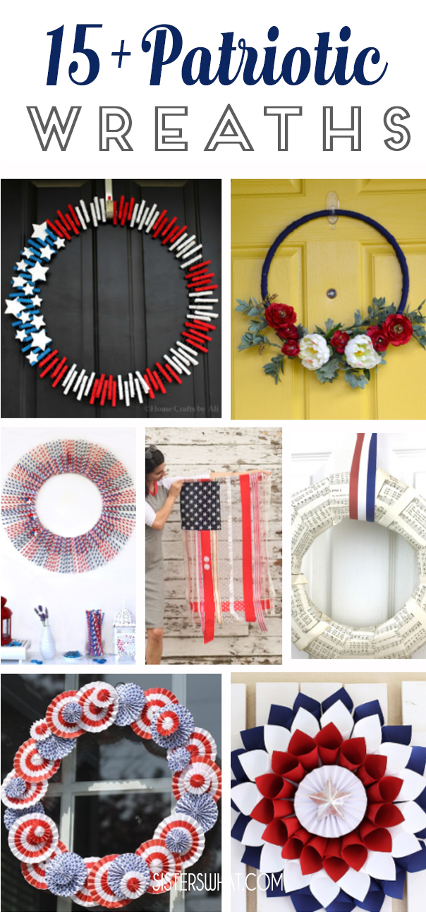 DIY patriotic wreaths holiday decor