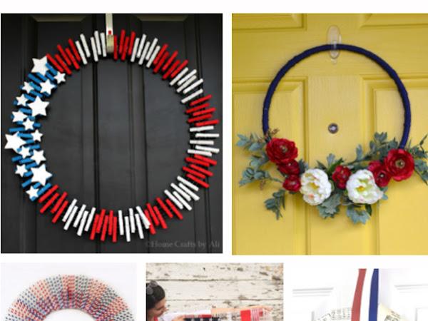 15+ Patriotic Wreaths and Front door Decor