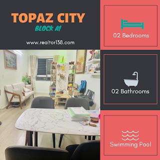 bán căn hộ 2 phòng ngủ topaz city block a1 quận 8