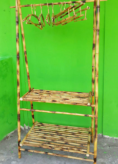 Kerajinan Bambu Rak