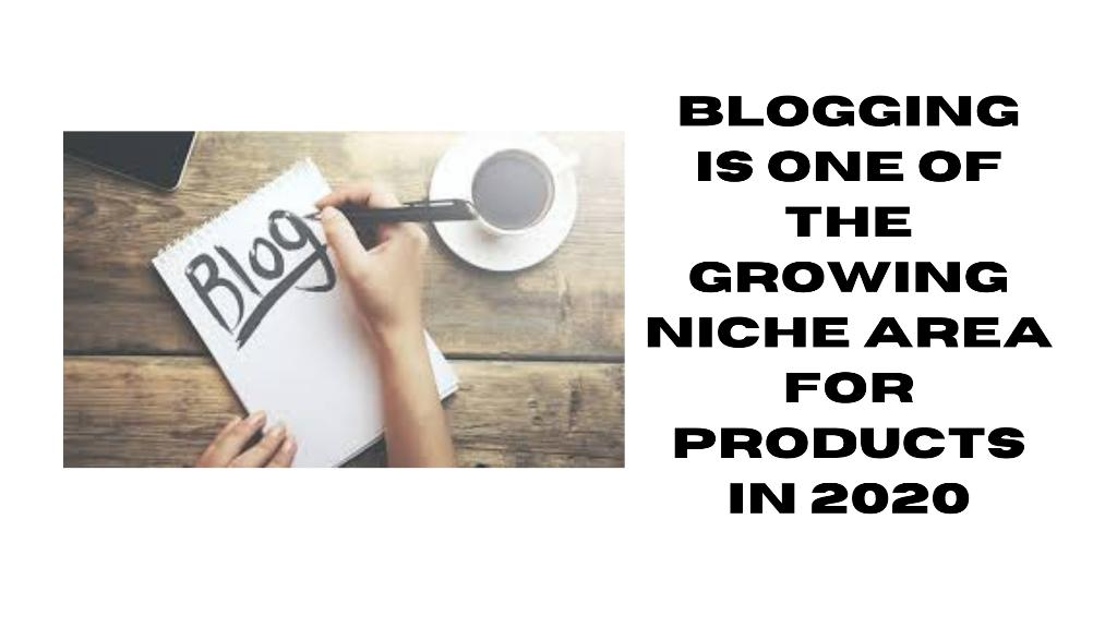 Blogging is one of the growing niche area for products in 2020