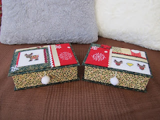 caja, navidad, cartonnage, punto cruz, cross stitch, point croix, noel, christmas