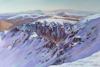 Day Eighteen Art Advent Striding Edge