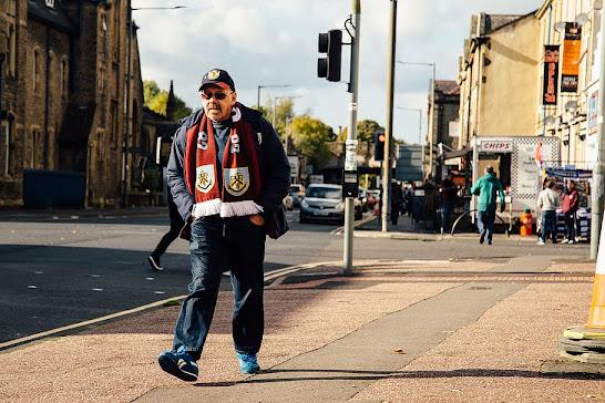 Burnley football club fan