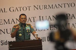 Panglima TNI Jendral Gatot Nurmantyo : Kami Berdoa untuk Keselamatan Bangsa Indonesia - Commando