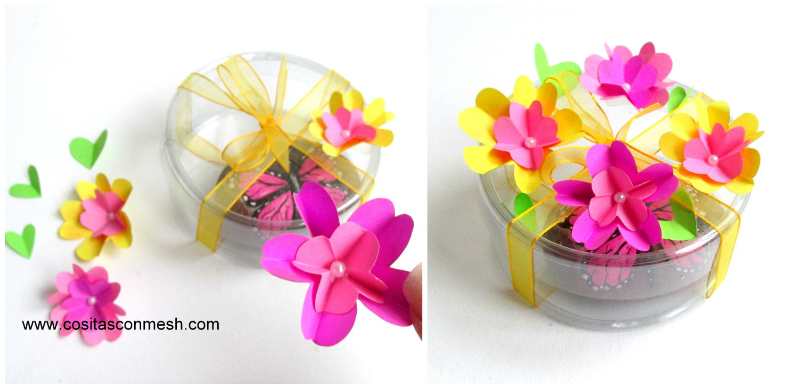 2 ideas para hacer flores de papel para regalos - Para hacer manualidades ...