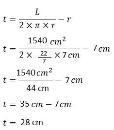 Cara menghitung tinggi tabung jika diketahui luas permukaan dan jari jari