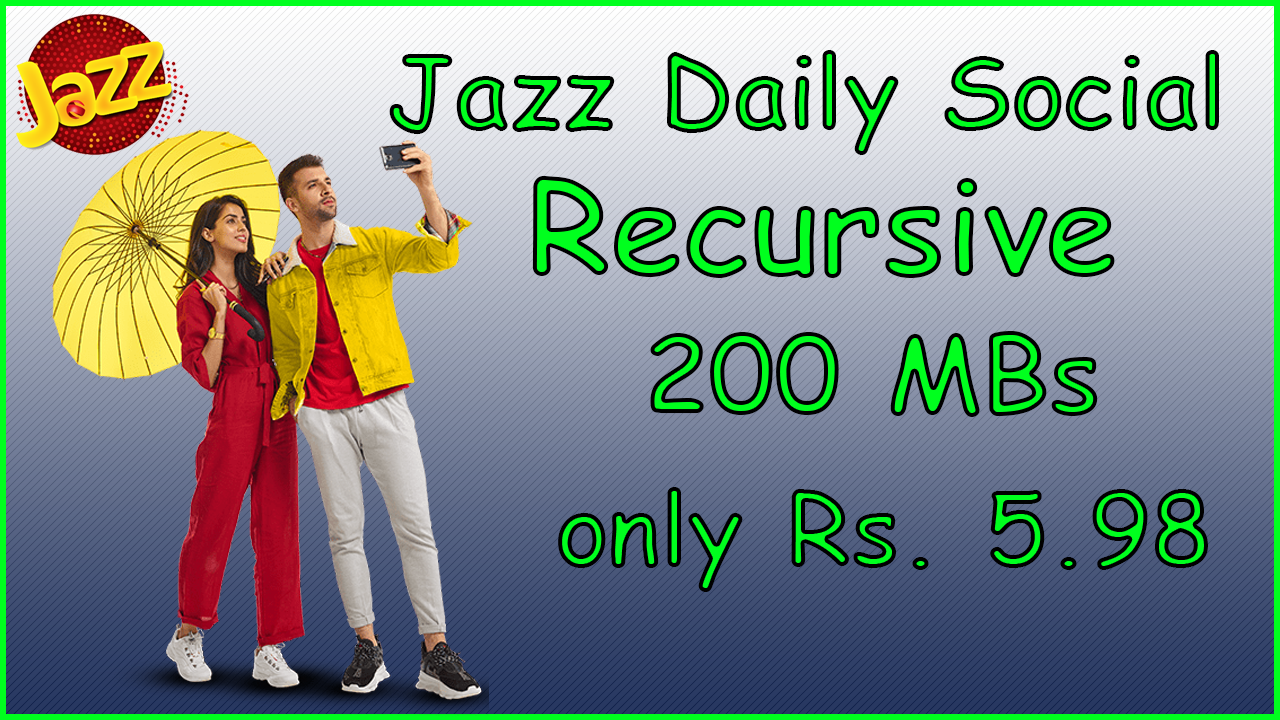 Jazz Daily Social Recursive | Jazz Internet Packages | Internet Plans