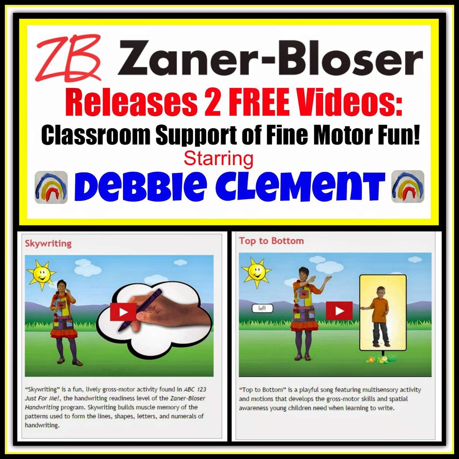 Zaner-Bloser presents Debbie Clement Singing + Dancing for Fine Motor Fun!