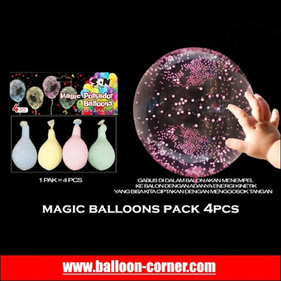 MAGIC BALLOONS Pack 4Pcs