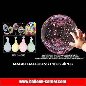 MAGIC BALLOONS Pack 4Pcs