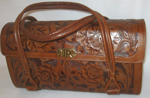 Vintage Gaitin Hand Tooled Leather Purse