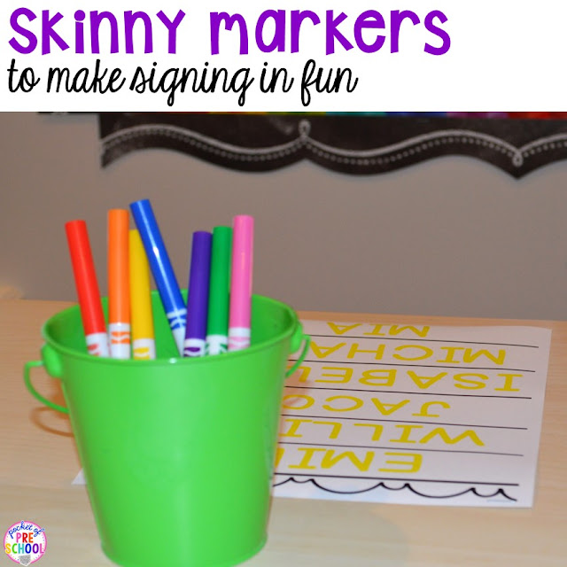 FREE editable and blank sign in sheets for your early childhood classroom and ideas on how to use them in your classroom to get kids writing their names all the time