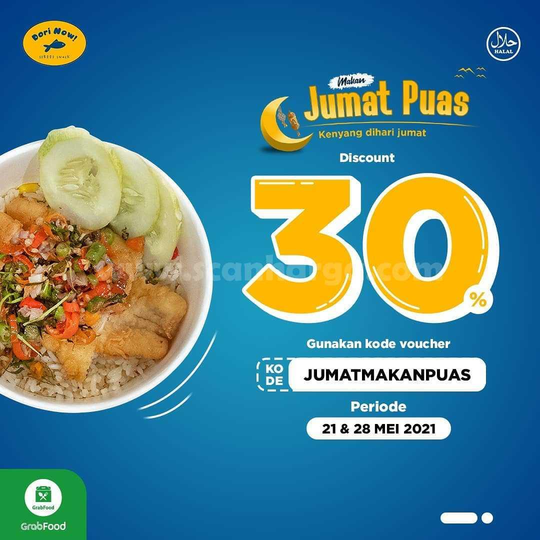 Promo DORI NOW Makan Jumat Puas Diskon 30%