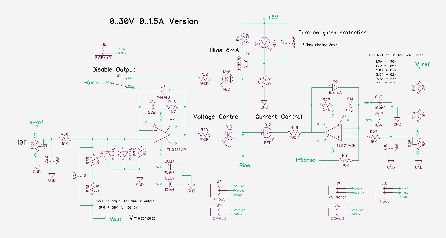 Pauls Diy Electronics Blog My New Power Supply Design Project Part 3 Shows You How To Build A Dcdc Schematichere39s Dc Circuit Note That I Used Two Resistors In Series Set The Maximum Voltage R35 And R36 Current R19 R24 For This Allows Use Various