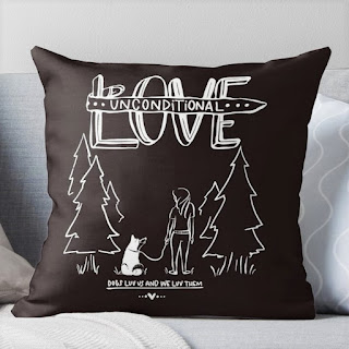Throw pillows, Home accent pillows with dog design