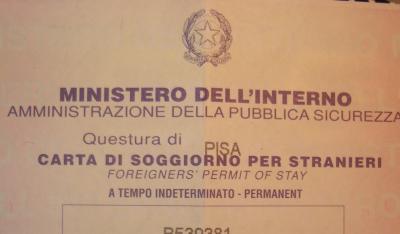 Bruno aprile e la democrazia diretta immigrazione e for Documenti per richiesta carta di soggiorno