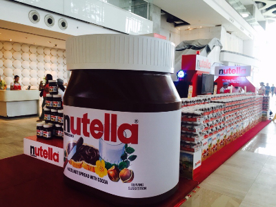 the giant nutella jar is in town recycle bin of a middle child