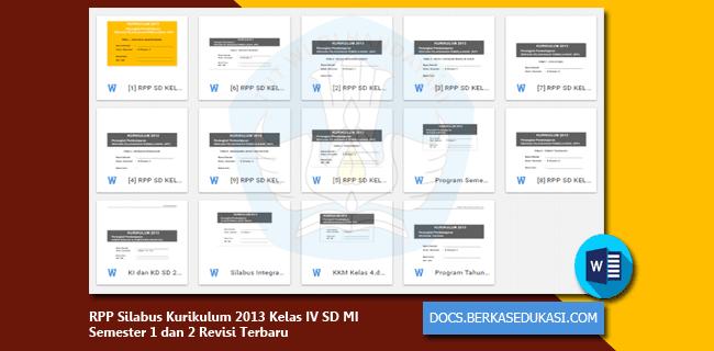 RPP Silabus Kurikulum 2013 Kelas IV SD MI Semester 1 dan 2 Revisi 2019-2020
