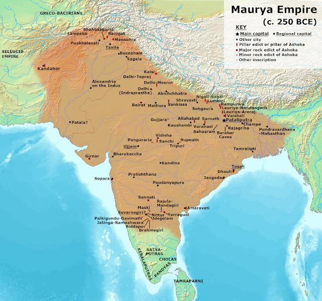 Ang desh - Champa in Maurya Empire - Map