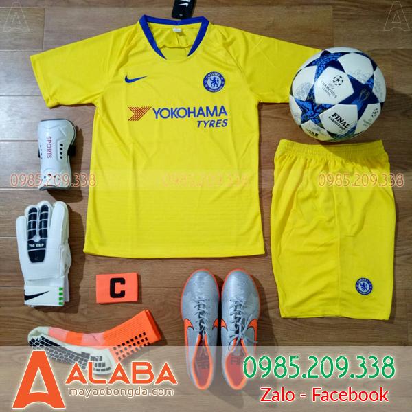 Áo Chelsea 2019 màu vàng sân khách đẹp