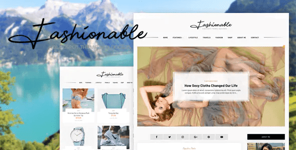 Professional Responsive Blogger Templates   Fashion, Lifestyle, Food template